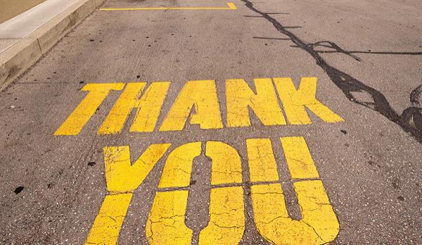 Как поблагодарить по английски