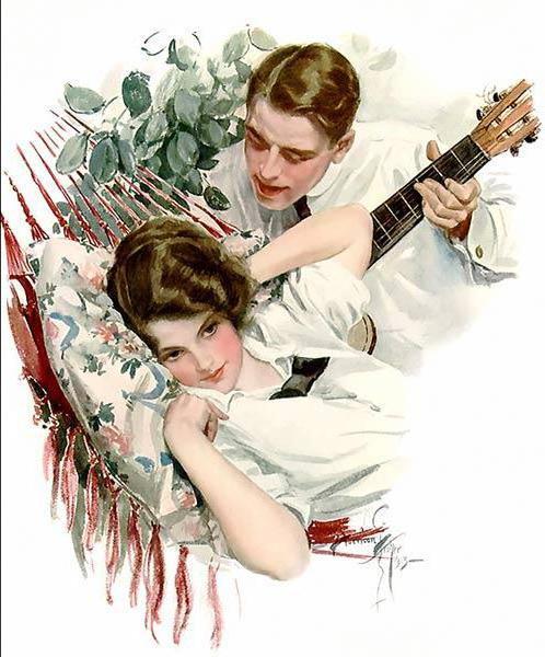 Красиво украсить, винтажные картинки любовь